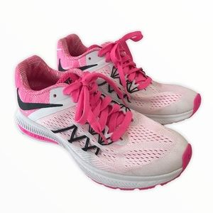 NIKE Air Zoom Winflo 3 Running Shoes Pink neon